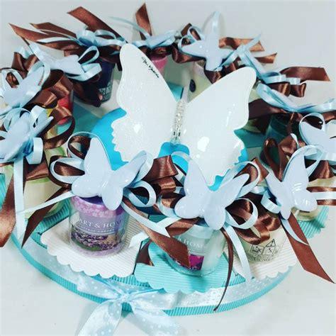 candele torta torta bomboniera candele profumate con magnete farfalla