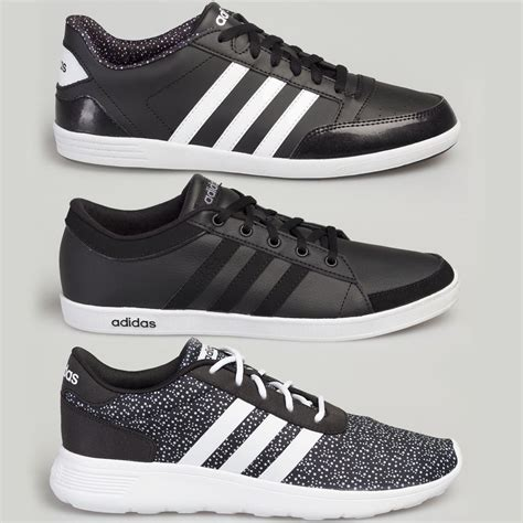 Adidas Lite Racer White And Black adidas s s leather trainers calneo lite racer