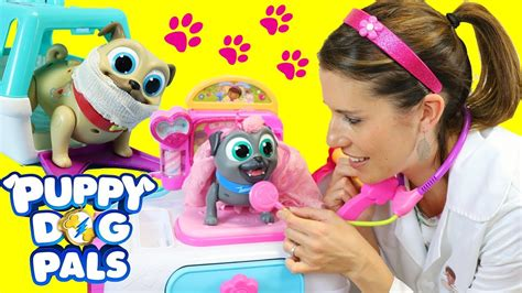puppy pals costume puppy pals get a check up by in a doc mcstuffins costume