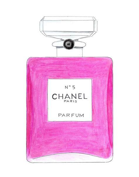 Parfum Chanel Pink chanel no 5 perfume pink bottle watercolor fashion