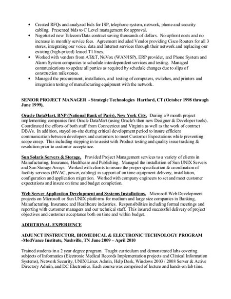 Pmp Resume by Project Manager Pmp Resume