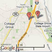 map of cottage grove or cottage grove oregon hotels 2016