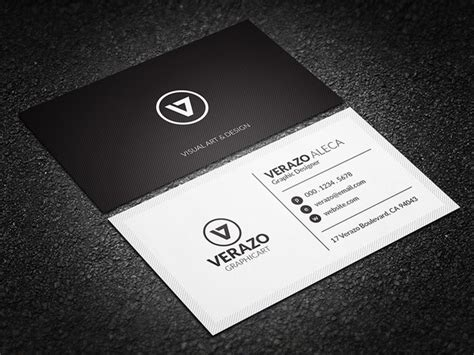 minimal black white corporate business card template blank