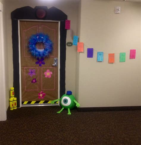 pixar classroom door monsters inc door decoration for october crafts monsters decoration