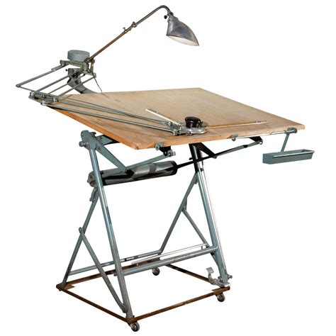 Architectural Drafting Table Drafting Table With Original Components At 1stdibs