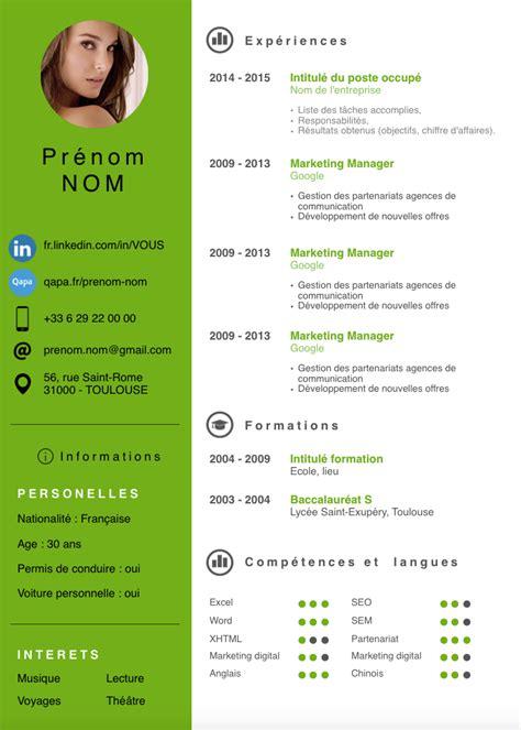 Cv En Francais Word Gratuit by Exemple Cv Moderne Word Gratuit Cv Anonyme
