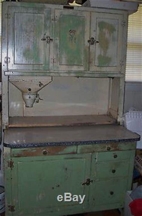 Antique Vintage Hoosier Cabinet Enamel Top Shabby Chic
