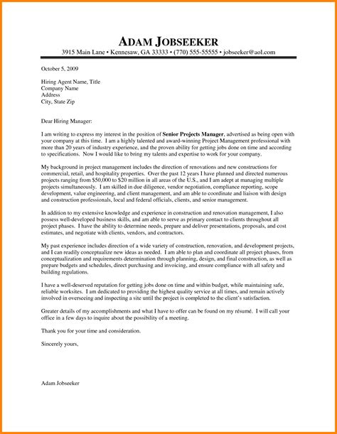 managment cover letter 12 construction manager cover letter sle and