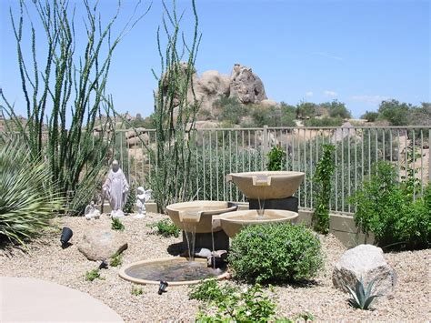 desert backyard custom water features and fountains