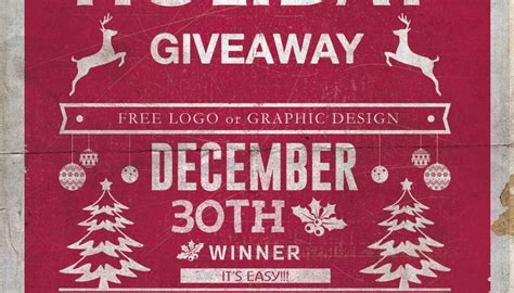 Free Christmas Giveaways - christmas giveaway get a free logo or graphic design first fortune marketing