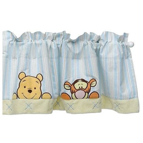 winnie the pooh window curtains pooh soft n fuzzy window valance babyco
