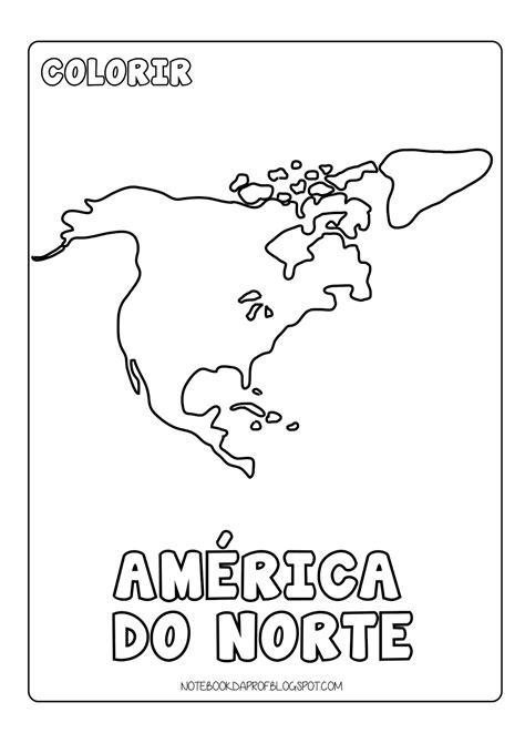 Continentes Para Colorir