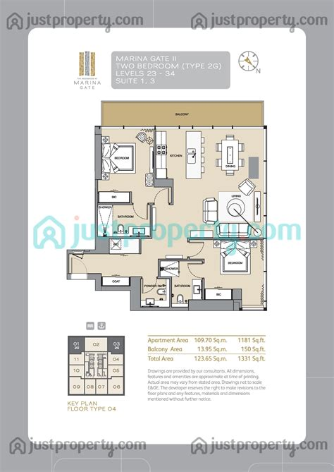 Gate Tower Floor Plan | marina gate tower 2 floor plans justproperty com