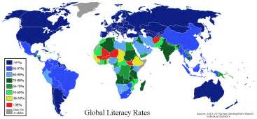 World Rates Literacy Rates Across The World 1350 215 625 Mapporn