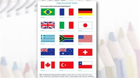 flags of the world quiz easy kids activities and worksheets older kids flags