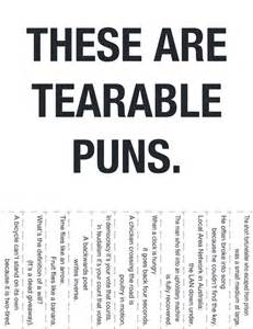 these are tearable puns dobrador puns signs