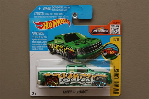 Hotwheels Chevy Silverado Us Card by Wheels 2016 Hw Cars Chevy Silverado Green