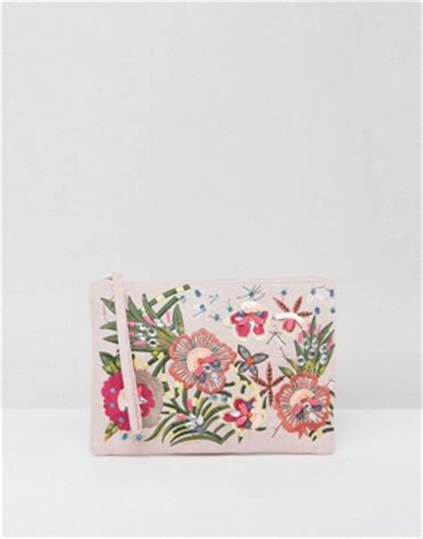 Oasis Embroidered Bird Clutch going out dresses asos