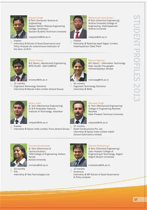 Cognizant Internship For Mba by Issuu 001 Iit Kanpur Placement Brochure 2012 By Element94