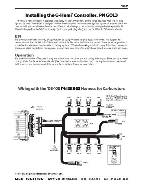 msd digital 6al wiring diagram msd free engine image for