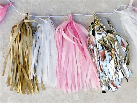 make your own tissue paper tassel garland hgtv