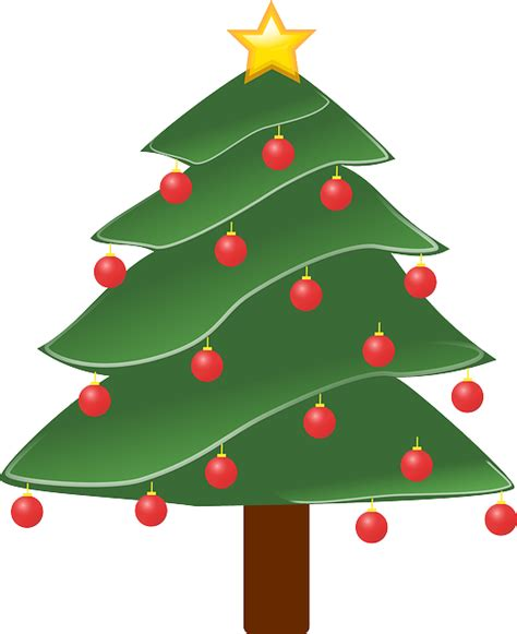 free vector graphic christmas tree plant decorated