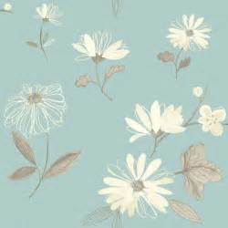 arthouse eco charnwood duck egg floral wallpaper