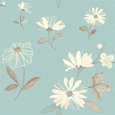 wallpaper designs b q arthouse eco charnwood duck egg floral wallpaper