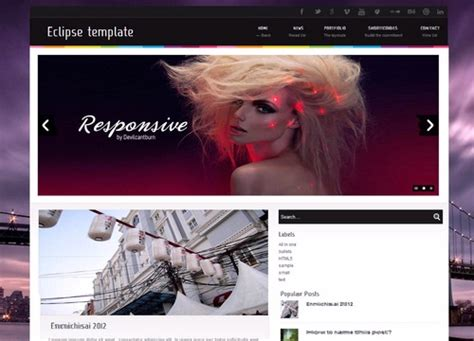eclipse blogger template lovely templates