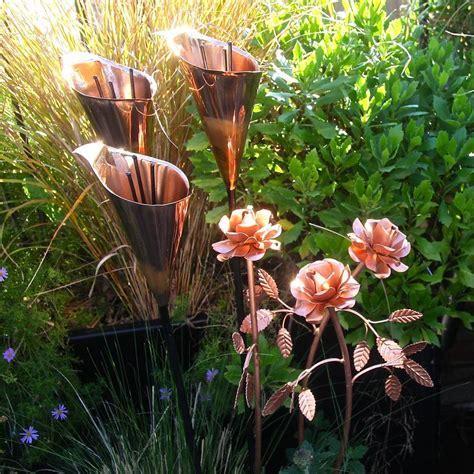 copper lily garden sculpture by london garden trading