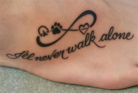 my first tattoo my hoof print paw print and
