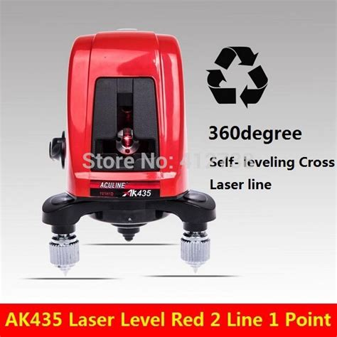 Lomvum Self Leveling Laser 2 Line 2 Points fast delivery all the world ak435 360degree self leveling cross laser level 2 line