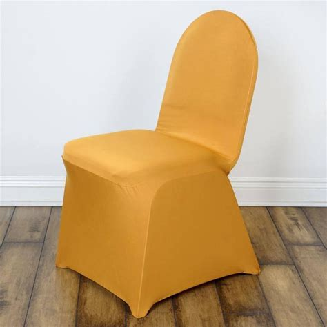 gold wedding chair covers gold spandex chair cover efavormart