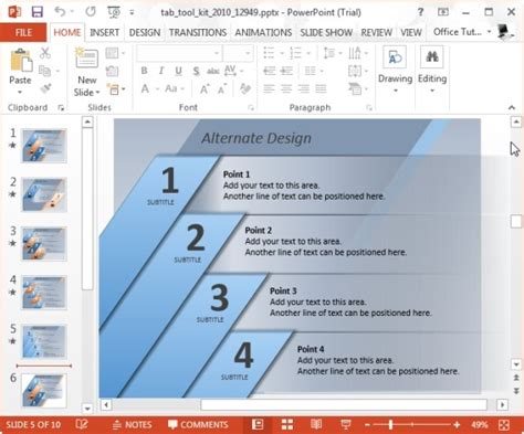 Elegantly Display Bullet Points With Powerpoint Tab Toolkit Template Powerpoint List Templates