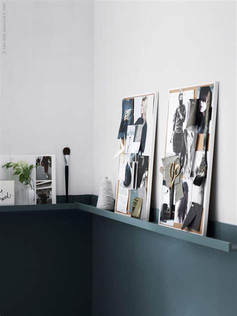 ikea ribba shelf moodboards two colored wall with ikea ribba shelf as a