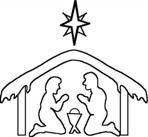 Nativity Silhouette Coloring Page | nativity silhouette patterns clipart best