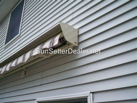sunsetter protective aluminum awning
