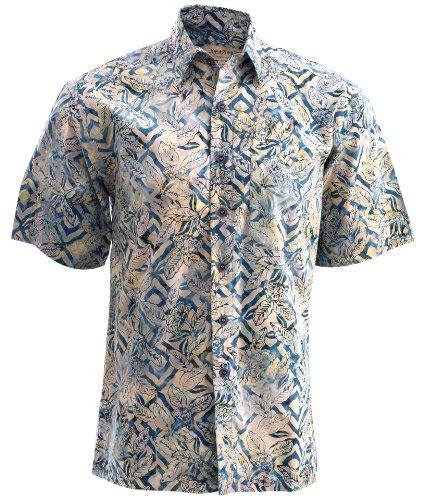 Hem Batik Pekalongan Exclusive High Quality jungle sand cotton hawaiian batik shirt by johari west