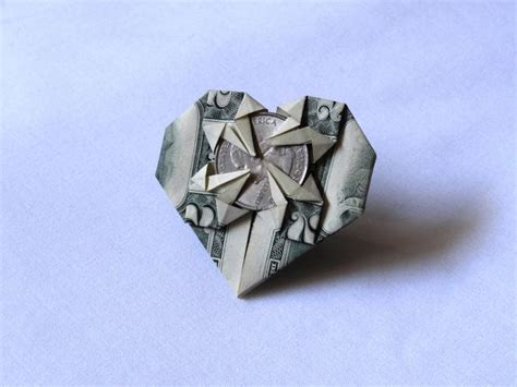 Mini Origami Hearts - mini money origami 2016