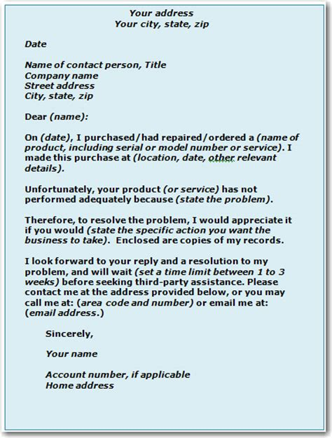 Complaint Letter To Company Exle Dcp How To Help Yourself Ways To Solve A Problem With A Business