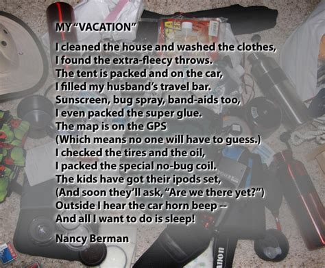 vacation  poem seattle backpackers magazine