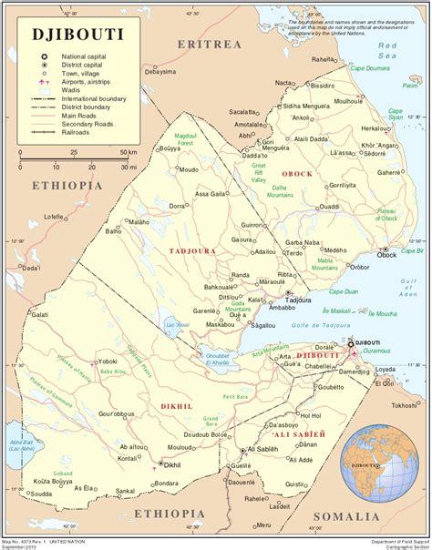 middle east map djibouti map of djibouti political map worldofmaps net