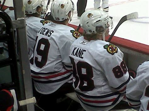 toews and kane fight on bench in the nhl and chicago captain means something