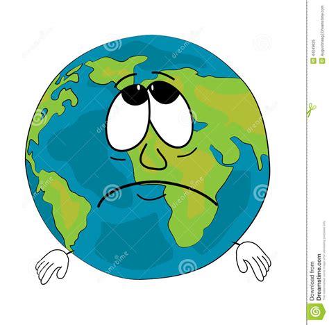 clipart mondo fumetto triste globo mondo illustrazione di stock