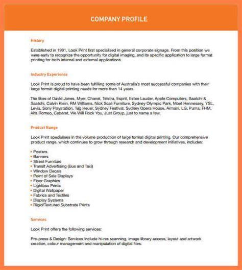 design firm company profile pdf 7 company profile sle design company letterhead