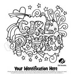 brownie scout coloring pages scout logo houppelande scouts