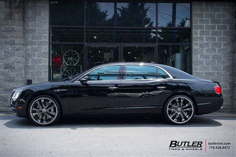 2017 bentley flying spur on rims bentley flying spur with 22in asanti af159 wheels