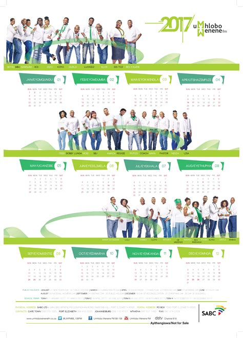 umhlobo wenene calendar 2015 umhlobo wenene calendar 2017 station calendar