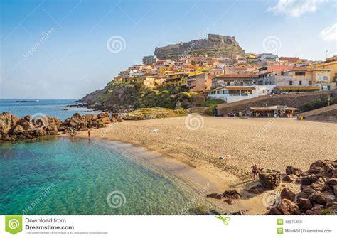 porto sardo in sardinian castelsardo editorial stock photo