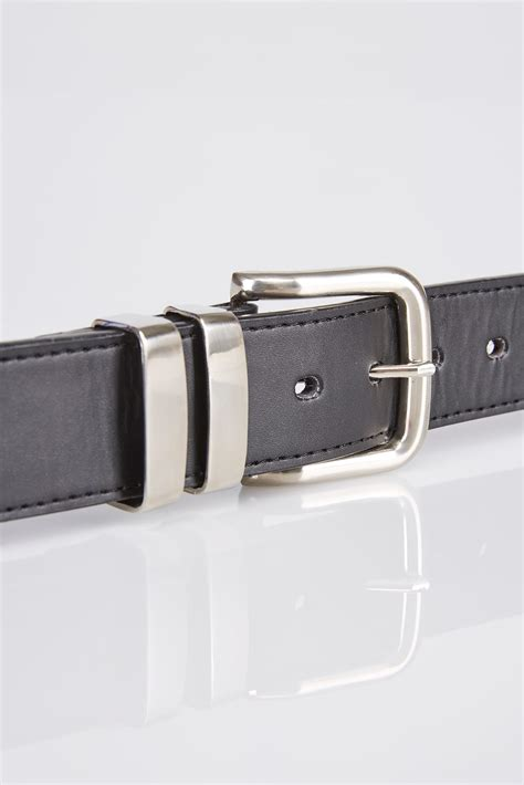 d555 black kingsize leather belt with silver buckle sizes